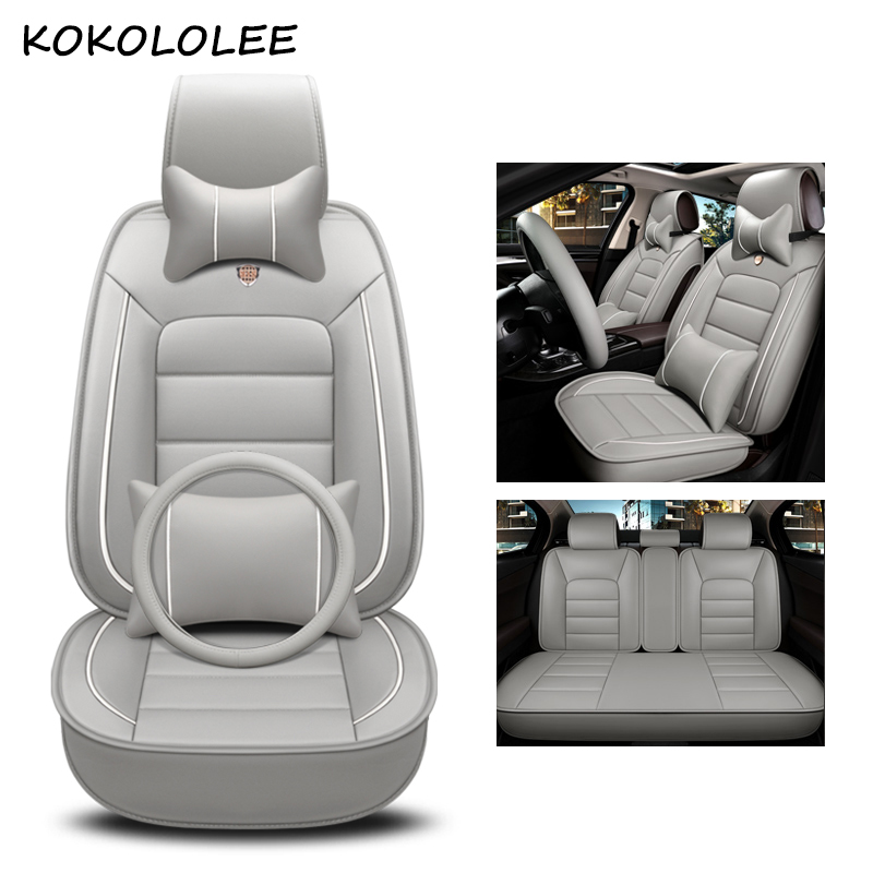kokololee pu leather car seat cover For opel meriva zafira bmw f30 fiat palio vw polo 6r mazda cx-5 car styling car accessories car believe car seat cover for mazda 6 gh cx 5 opel zafira b bmw f30 vw passat b6 solaris hyundai bmw x5 e53 covers for vehicle
