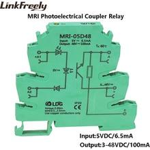 MRI-05D48 Input 5V DC Photoelectrical Coupling-interface Relay Module PLC Optocoupler Isolating DIN Rail Relay 3.3V 12V 24V DC цена