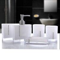 Acrylic Five Pieces Set Bath Wash Set Gift Bathroom Supplies Diamond Cup Brush Lovers