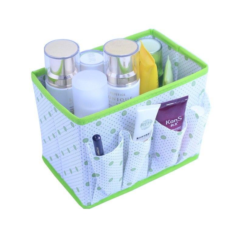 large capacity foldable makeup cosmetic storage box container dresser desktop sundries storage bins cube organizer