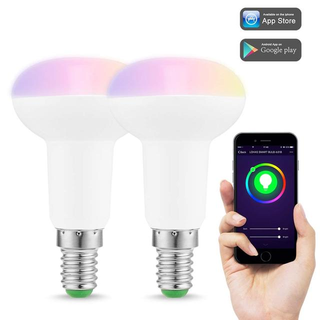 Wifi Smart Led Light Bulbs E14 5w Equal To 40w Reflector Rgb Cool White Color Mood