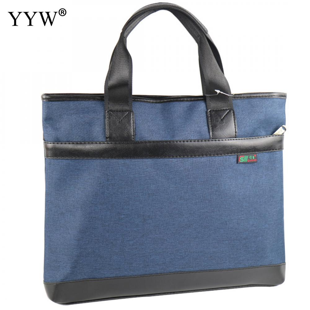 YYW 2018 Casual Men'S Executive Briefcase Business Male Bag Laptop Bags For Men Waterproof Oxford Handbag A Case For Documents