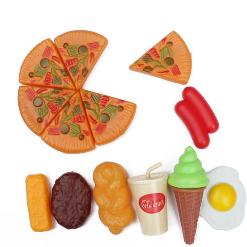 New 8 Pcs/Set Pretend Play Cutting Toy Egg Ice Cream Plastic Drink Food Kit Kat Pretend  ...