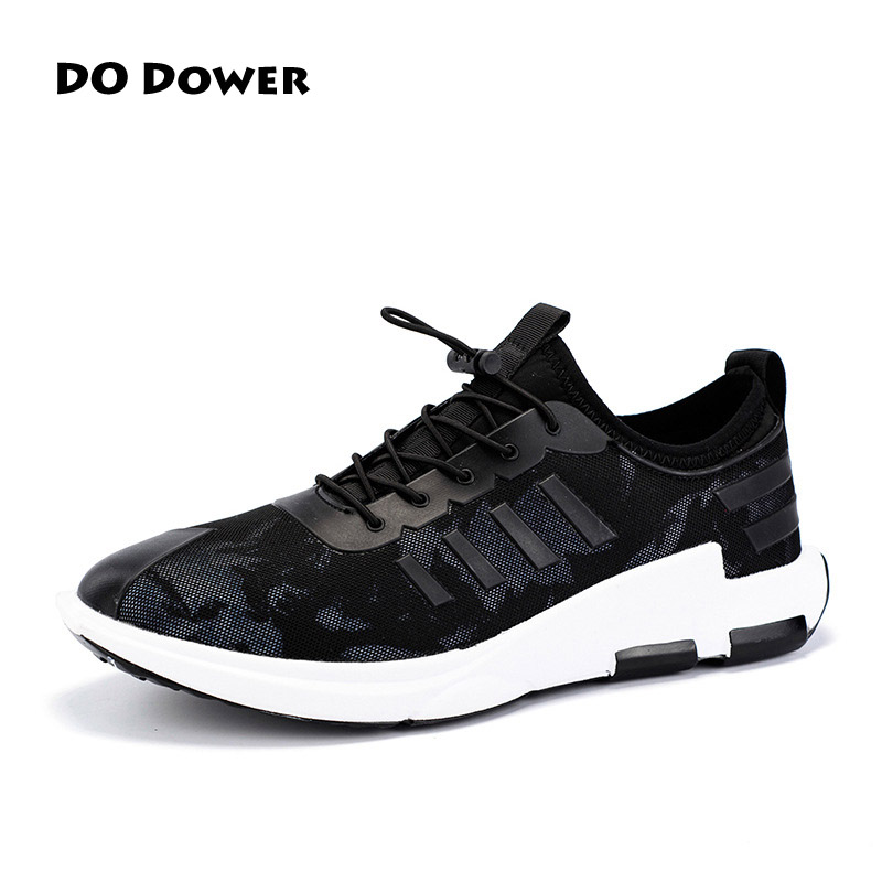 Do Dower Running Shoes Light Weight Lace up Sports Shoes Black White Jogging  Sneakers Men Outdoor Flat Walking Trend Shoes do dower men running shoes lace up sports shoes lovers yeezys air outdoor breathable 350 boost sport sneakers women hot sale