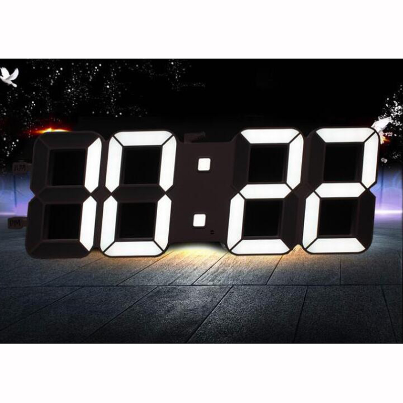 Dimmable Led Digital Wall Clock with Light Sensor Large 6 inches 15cm high LED Digits High Visible LED Clock for Home DecorationDimmable Led Digital Wall Clock with Light Sensor Large 6 inches 15cm high LED Digits High Visible LED Clock for Home Decoration
