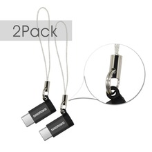 2PCS USB 2.0 מתאם 2 Pack סוג C למייקרו USB מתאם ממיר עבור Xiaomi 4C 5 גלקסי 7 Huawei P9 P10 Makbook נוקיה N1