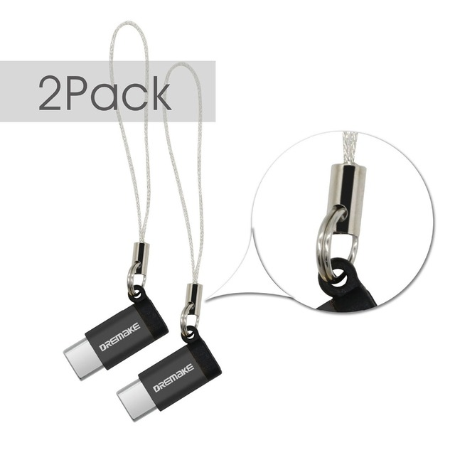 2PCS USB 2.0 Adapter 2 Pack Type C to Micro USB Adapter Converter for Xiaomi 4C 5 Galaxy 7 Huawei P9 P10 Makbook Nokia N1