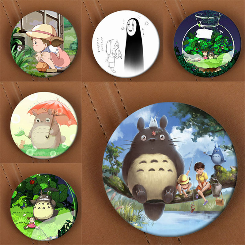 Youpop Spirited Away Chihiro Anime Brooch Pin Badge Accessories For Clothes Hat Backpack Decoration Men Women Boy Girl HZ1428
