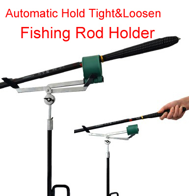 Free shipping automatic hold tight loosen design for Automatic fishing pole