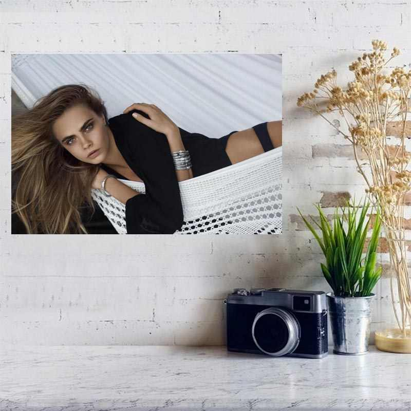 Silk Poster Wall Decor Art Print Cara Delevingne