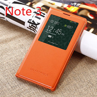 Original Style Phone Case For Samsung Galaxy Note 3 N9000 Window View Leather Flip Cover For
