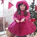 Niñas Abrigo de Invierno Las Niñas de algodón Con Capucha Escudo Navidad Niños Niñas Chaqueta de Invierno Outwear Chaquetas Abrigos niños ropa de invierno