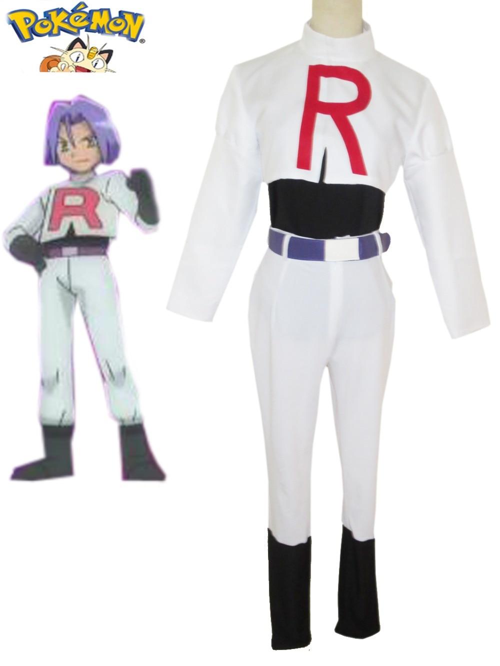 Pocket Monster Team Rocket James Cosplay Costume