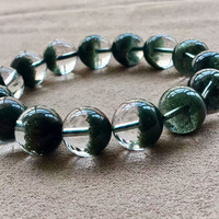 Natural Green Ghost Bracelet Men And Fund Things One Picture Recruit Wealth Crystal Hand String Personality Ornaments 14mm