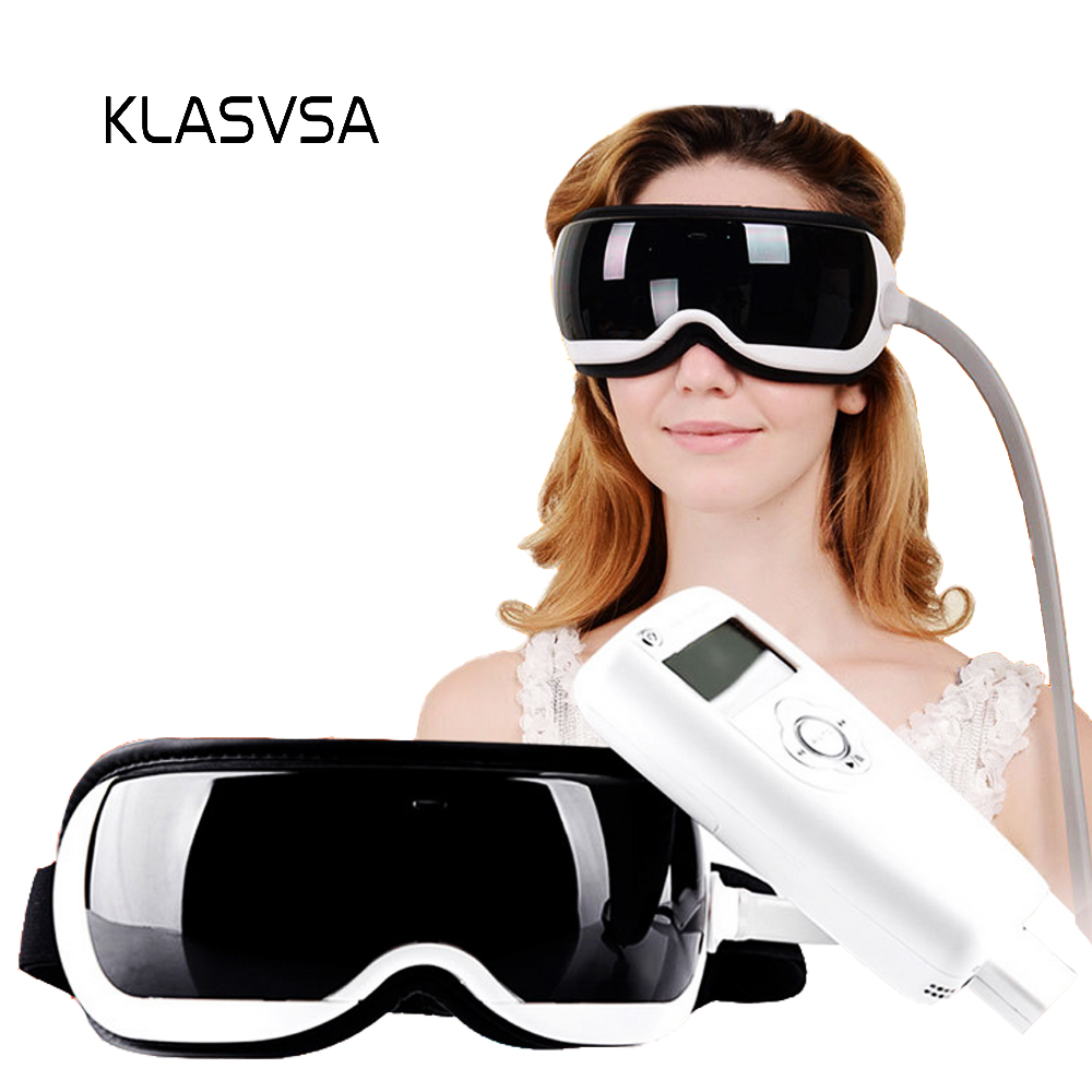 цена KLASVSA Heating Air Pressure Eye Massager Music Therapy Dispel Eye Bags Remove Wrinkle Acupoints Massage Relaxation Health Care