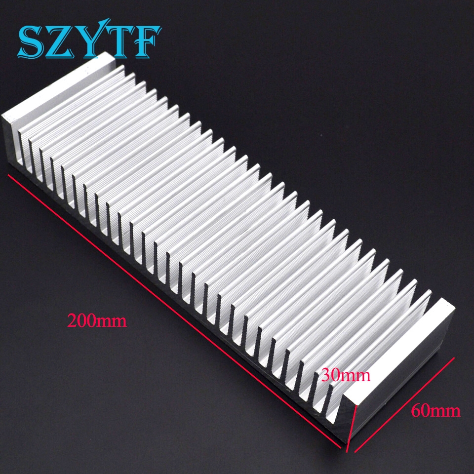 1pcs Heat sink 200*60*30MM (silver) high-quality aluminum heat sink and other special thicker amplifier synthetic graphite cooling film paste 300mm 300mm 0 025mm high thermal conductivity heat sink flat cpu phone led memory router