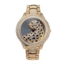 NOBDA Women's Watches Women Designer Luxury Leopard Diamonds Quartz Gold Watch Ladies Wrist Watch montre femme relogio feminino