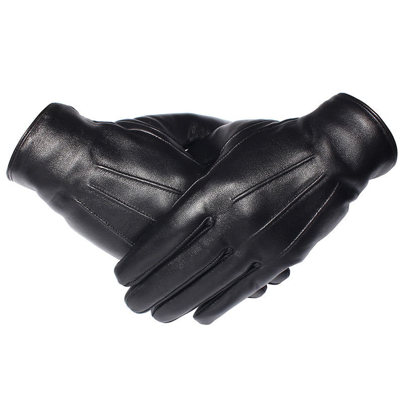 GOURS Winter Gloves Men Genuine Leather Gloves Touch Screen Real Sheepskin Black Warm Driving Gloves Mittens New Arrival GSM050