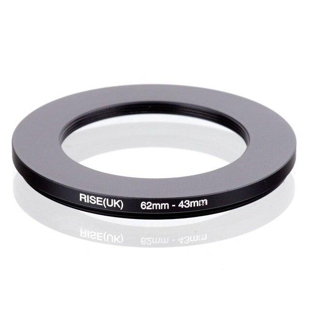 עלייה (בריטניה) 62mm 43mm 62 43mm 62 כדי 43 צעד למטה טבעת מסנן מתאם שחור