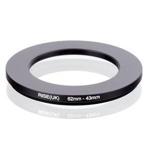 Image 1 - RISE(UK) 62mm 43mm 62 43mm 62 to 43 Step down Ring Filter Adapter black