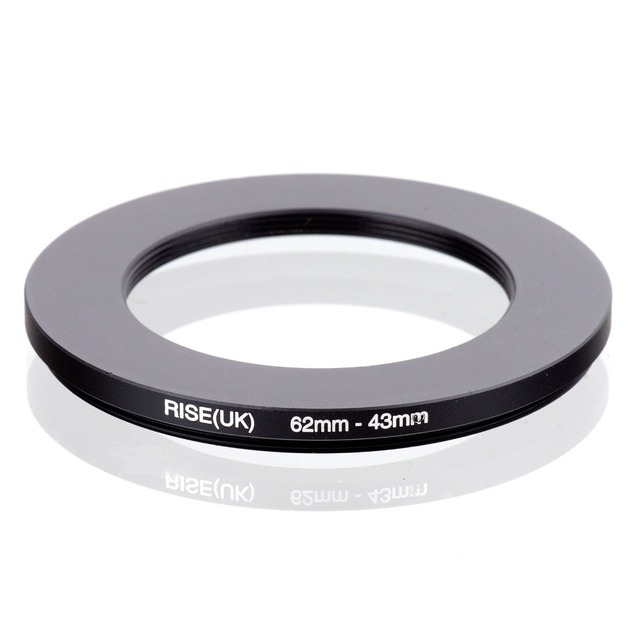 RISE(UK) 62mm 43mm 62 43mm 62 to 43 Step down Ring Filter Adapter black