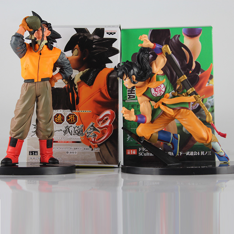 Dragon Ball Z Action Figure Drinking water Son Goku Yamcha Scultures Big PVC Action Figure Model