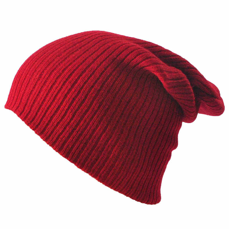 4aef511637e69 ... Gorro Men Women s Winter Hats Stretchy Slouch Beanie Light Weight Knit Skull  Cap Black Gray Navy