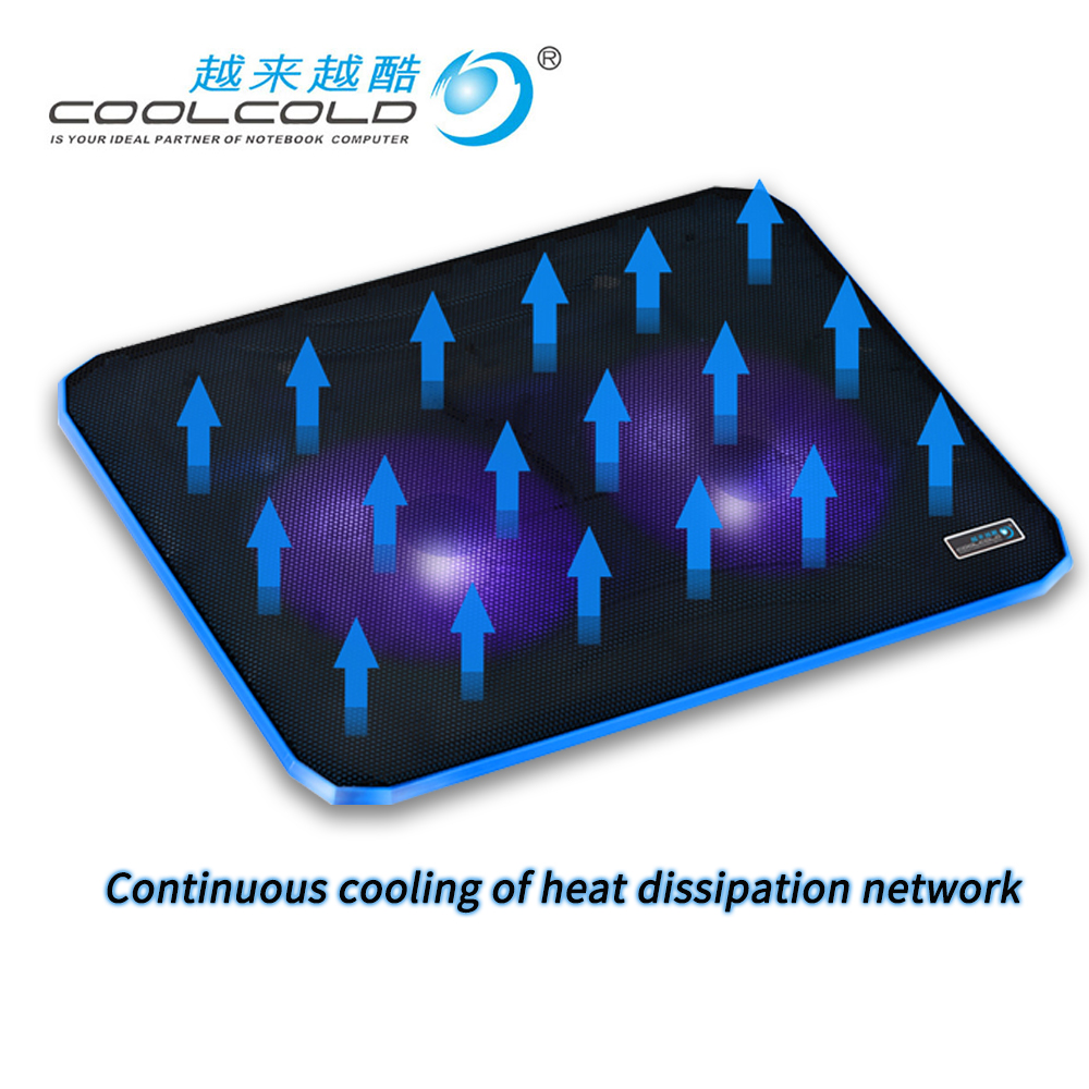 Hot sale Laptop Cooler Cooling Pad Base <font><b>Notebook</b></font> Cooler Computer USB Fan <font><b>Stand</b></font> Laptop Cooling Pad image
