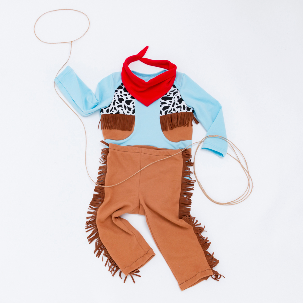 589e30da2 Cowboys Infant Baby Boy Romper Clothing Sets Long Sleeve Jumpsuit + Pant +  Scarf 3Pcs Tassel Boys Leisure Sport Suits Clothes-in Clothing Sets from  Mother ...