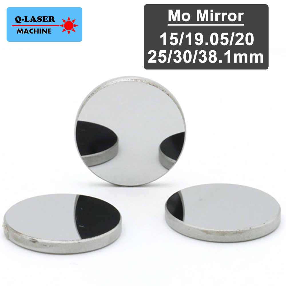 High Quality Co2 Laser Mirror Dia. 15 19.05 20 25 30 38.1mm Mo Reflect Mirror For Co2 Laser Engraving And Cutting Machine co2 laser head mirror and lens integrative mount laser cutting engraving