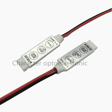 цена на 10pcs Mini RGB Controller Dimmer Switch 19 Dynamic Modes 20 Color DC 12V 24V 3 Keys for 5050 3528 Led Strip Lamps Light