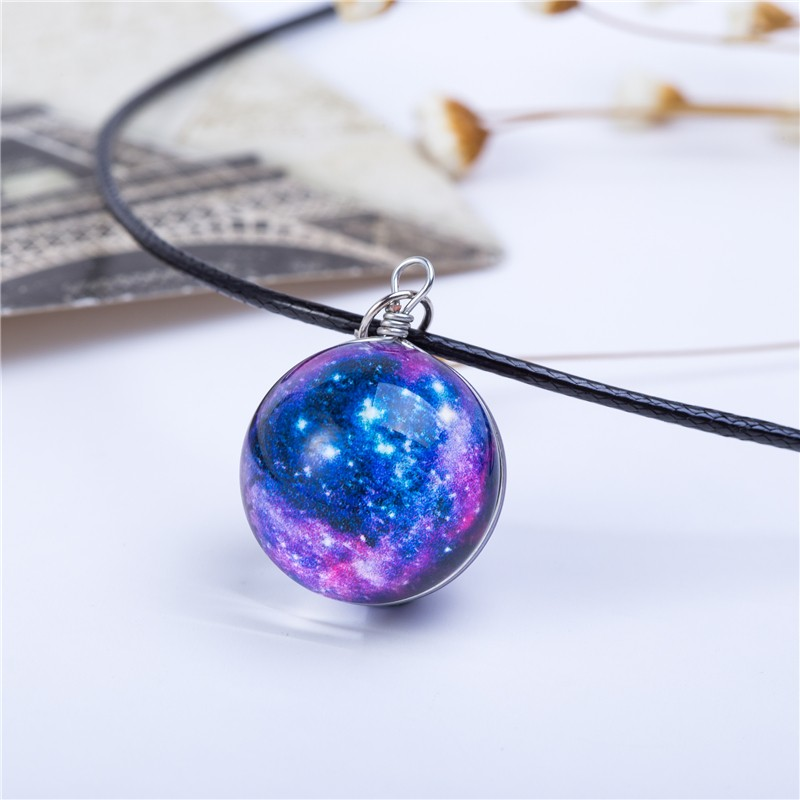 HTB19QVGKVXXXXaBapXXq6xXFXXXm - Collares Duplex Planet Crystal Stars Ball Glass Galaxy Pattern
