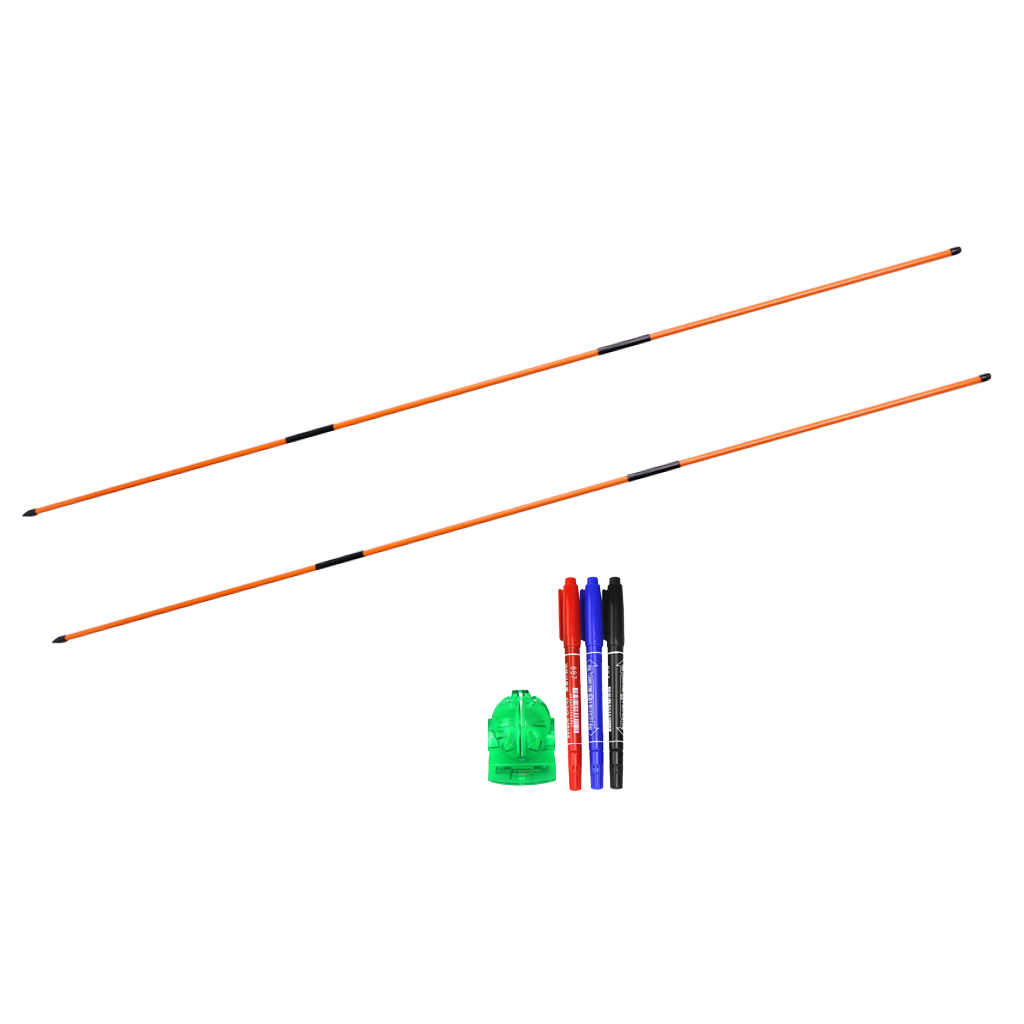 Portable Golf Putting Alignment Stick Direction Rod & Golf Ball Line Liner Marker Set