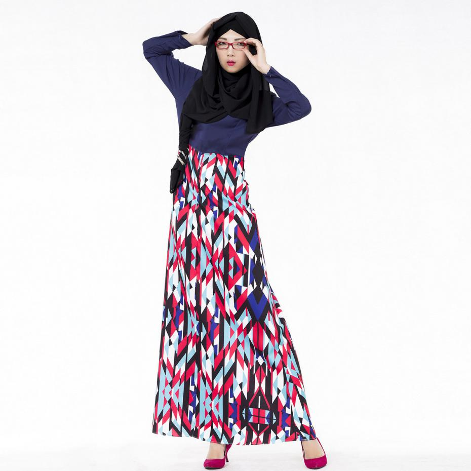 a7e8ad8baec Elegant Dress Muslim Style New Arrivals 2017 Women Clothing Printing O neck  Cotton Maxi Dresses Long Sleeve Hot Sale-in Dresses from Women s Clothing  ...