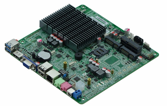 itx Motherboard J1800 For PC and all in one Computer Ultra-thin Integrated Machine Without Fan Mini Industrial Control Board