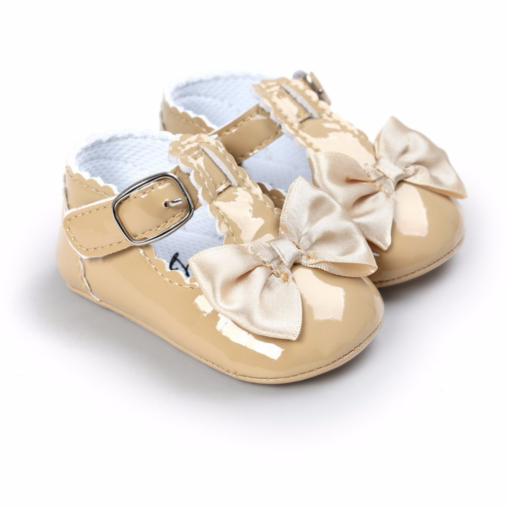 Baby Girl Shoes Mirror Spring Baby Girl First Walkers Lovely PU Shoes Princess Non-Slip Infant Soft Shoes