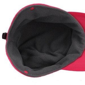 Image 4 - Fibonacci 2018 novo chapéu de inverno feminino à prova de vento blusão tecido proteção de ouvido quente mais veludo grosso boné de beisebol