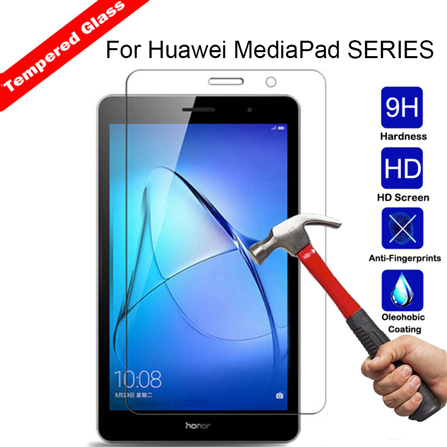 Screen Protector Tempered Glass For Huawei MediaPad T3 4g wifi 7.0 8.0 9.6 M3 8.4 M3 Lite 8.0 10.0 T1 701 U 7.0 Protective Film tempered glass for huawei mediapad m3 8 4 m3 lite 8 10 inch screen protector for huawei mediapad m3 lite 10 1 8 0 inch glass