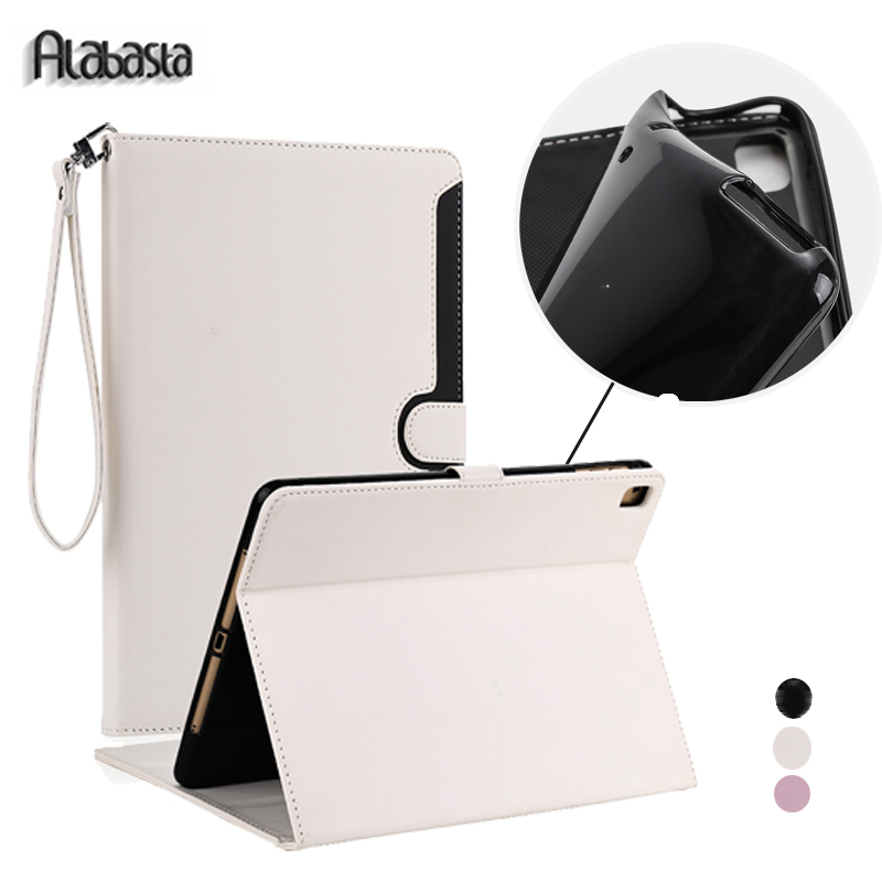 Alabasta Case for fundas iPad Air2 PU Leather Business proof Folio Stand Case Smart Auto Wake for iPad 6 Air2 9.7 inches stylus alabasta painting pu leather stand case