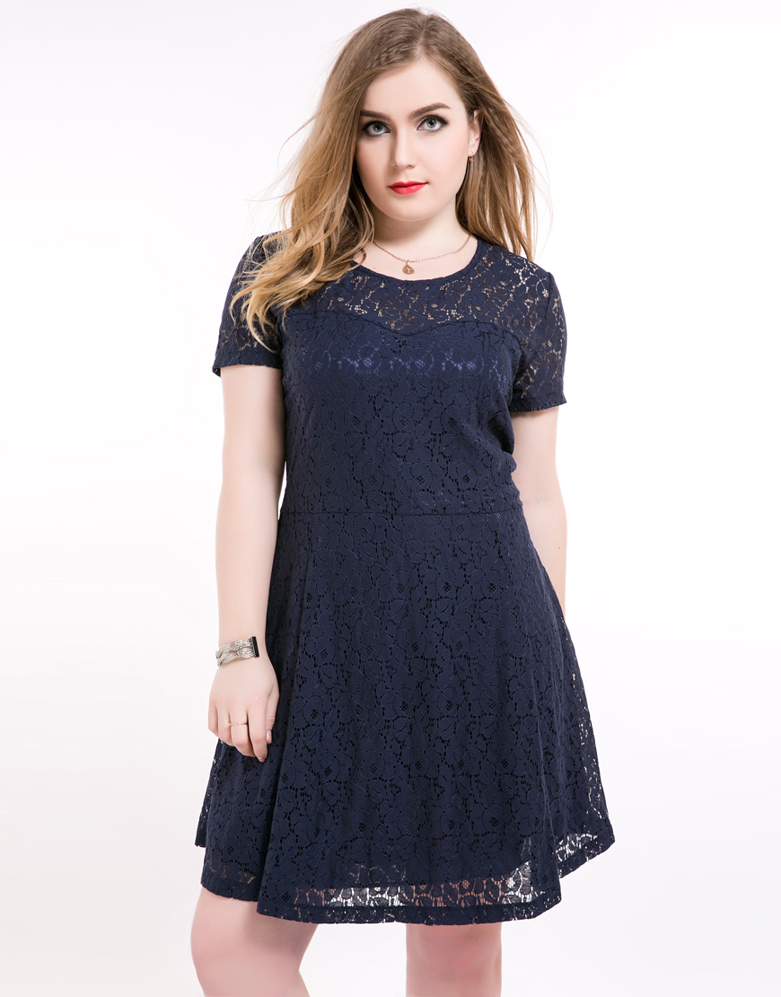 Aliexpress.com : Buy White Lace Dresses Plus Size Women ...