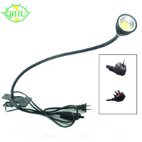 LED Desk Lamp With Clip Flexible LED Reading Lamp 5W 220V Power Supply LED Book Lamps