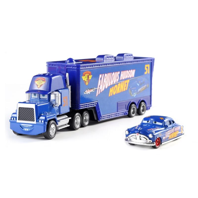 Cars Disney Pixar Cars Mack Uncle No.51 Fabulous Hudson Hornet Diecast Toy Car Loose 1:55 Brand New In Stock Disney Cars 3
