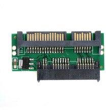 Pro 1.8 micro msata ssd para 7 + 15 2.5 Polegada adaptador sata placa de cartão conversor