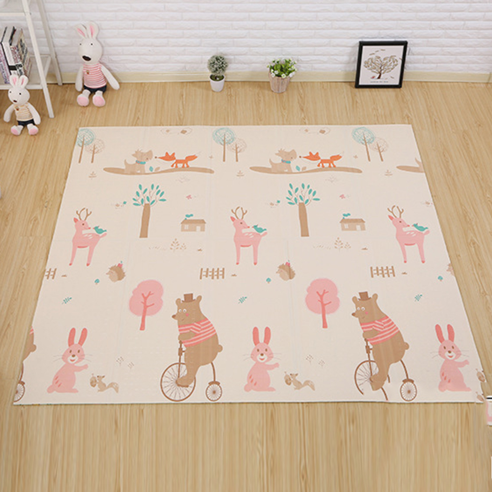 180cm*200cm Infant Baby Foldable Play Double sided Mat Thickened Home Baby Room Splicing Child Climbing Mat-in Play Mats from Toys & Hobbies