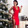 New Must Have Free Shipping Chic Sexy Vneck Hollow Side Celebrity Party Style Wholesale Women Bandage