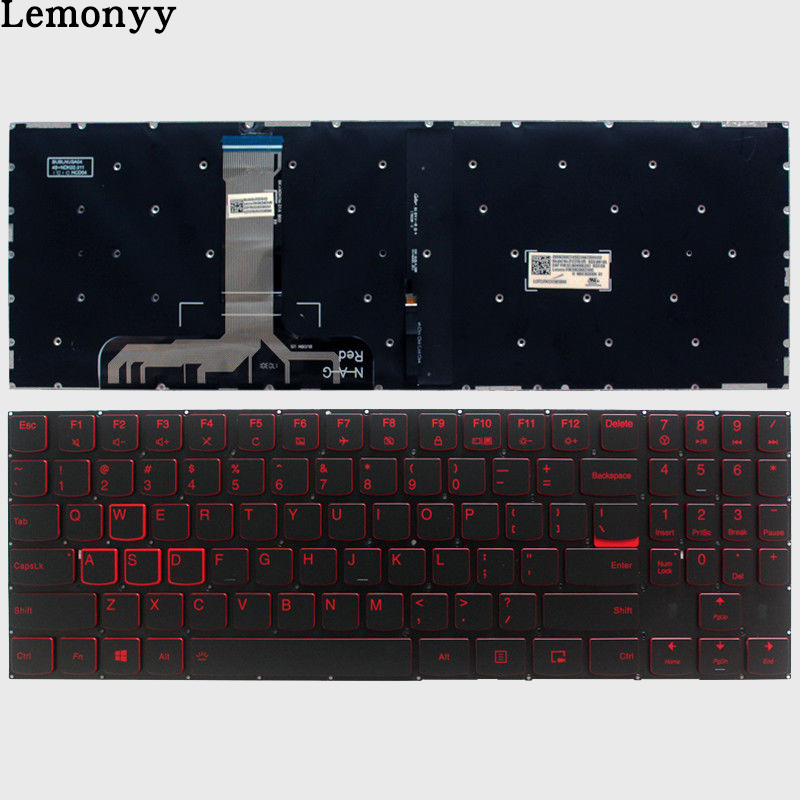 New US keyboard for Lenovo Legion Y520 Y520-15IKB R720 Y720 Y720-15IKB US laptop Keyboard Backlit No Frame new us laptop keyboard for lenovo ideapad 100s 14ibr 300s 14isk 310s 14isk 510s 14isk keyboard us red key no frame no backlight