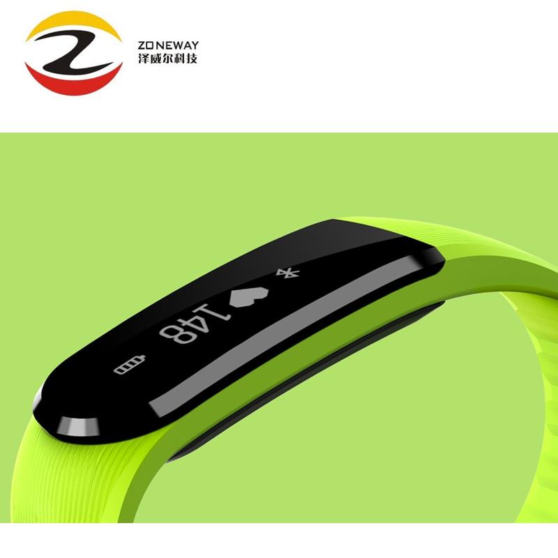 5pcs ID101 Bluetooth Smart Bracelet Smart Band Heart Rate Monitor Fitness Tracker Music Control Smart Wristband