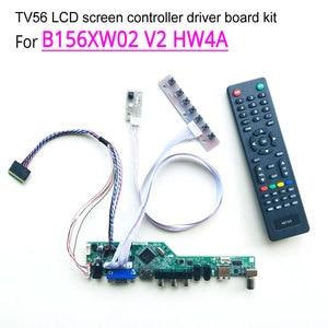 "For B156XW02 V2 HW4A 1366*768 laptop LCD screen 40-pin LVDS 15.6"" WLED HDMI/VGA/AV/Audio/RF/USB TV56 controller driver board kit(China)"