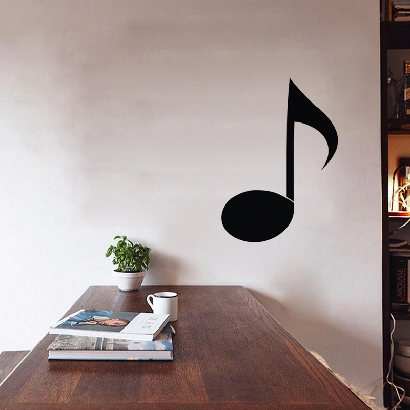 Hot Sale Quaver Musical Note Wall Stickers Creative Kids Rooms ...