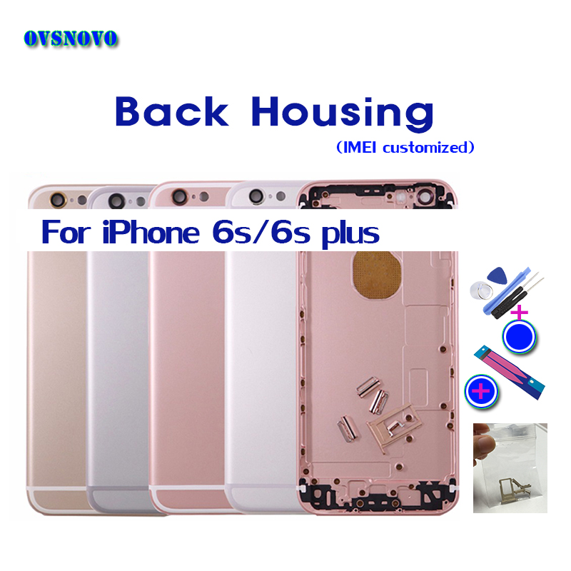 Good Replacement For iPhone 6s Housing back housing cover for iPhone 6s plus back cover Chassis Frame can Custom IMEI